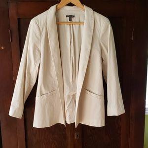 Eileen Fisher buttonless blazer, khaki